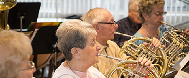 Music Institute of Chicago Adult Studies-French Horns Copyright Elliot Mandel Photography