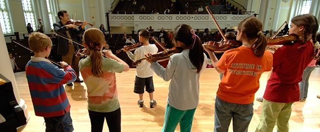Suzuki VIolins at Nichols Concert Hall
