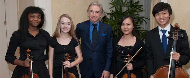 Music Institute of Chicago Academy VOX String Quartet with Michael Tilson Thomas