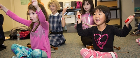 Music Institute of Chicago offers free programs to K-8 schools.  Photo copyright Elliot Mandel