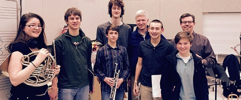 Music Institute brass students play in all-star high school ensemble at the 2015 Chicago Brass Festival