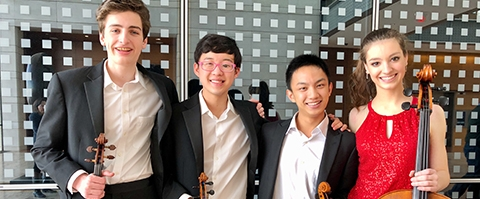 Kairos String Quartet from Music Institute of Chicago Academy