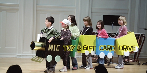 Toy and Gift Card Drive at the Music Institute of Chicago