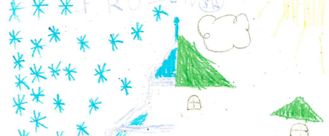 Frozen drawing by Tess; Ideas by Tess and Avery